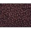Seedbead Opaque Dark Brown 8/0